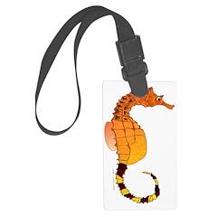 Big belly Seahorse c Luggage Tag