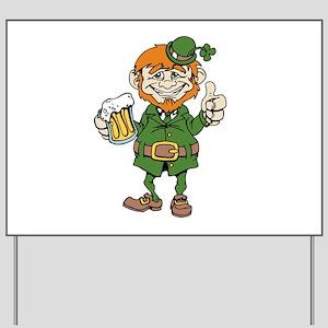 St Patricks Day leprechaun Yard Sign