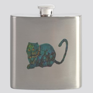 Shamrock Cat Flask