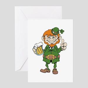 St Patricks Day leprechaun Greeting Cards