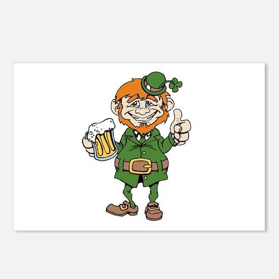 St Patricks Day leprechaun Postcards (Package of 8