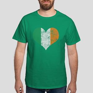 Flag of Ireland Heart T-Shirt