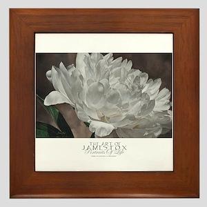 floral,moonlight serenade Framed Tile