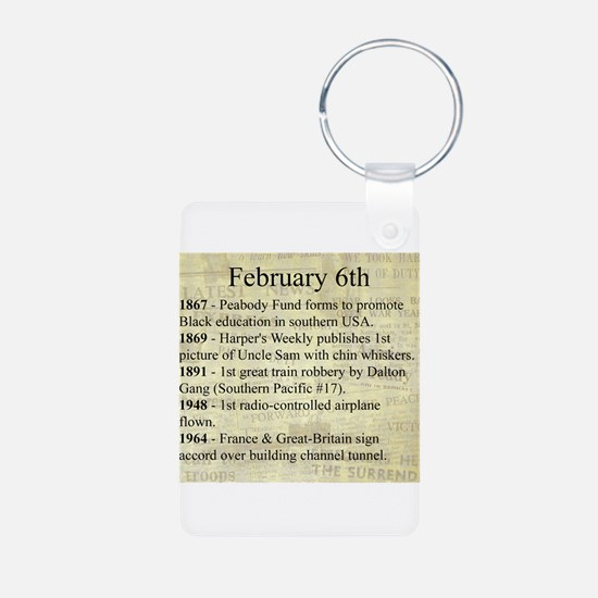 February 6th Keychains