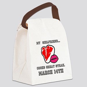 My Girlfriend - Steak and BJ Day Canvas Lunch Bag