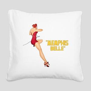 Memphis Belle Square Canvas Pillow