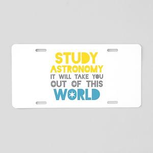 Study Astronomy Aluminum License Plate