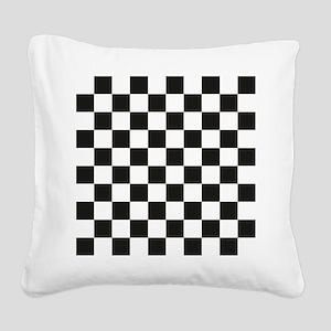Big Black/White Checkerboard  Square Canvas Pillow