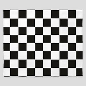 Big Black/White Checkerboard Checkered  King Duvet