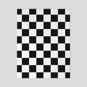 Big Black/White Checkerboard Checkered  Twin Duvet