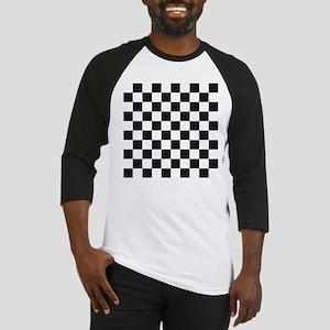 Big Black/White Checkerboard Check Baseball Jersey