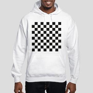 Big Black/White Checkerboard Che Hooded Sweatshirt