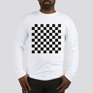 Big Black/White Checkerboard C Long Sleeve T-Shirt