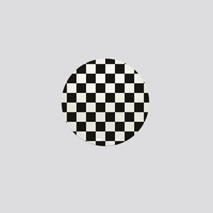 aa7a73a23d23a0 Big Black White Checkerboard Checkered Mini Button