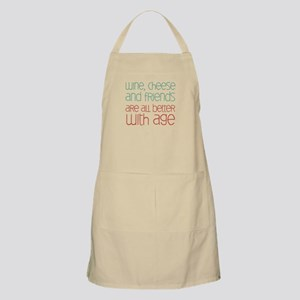 Wine Cheese Friends Apron