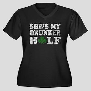 She's my dru Women's Plus Size V-Neck Dark T-Shirt