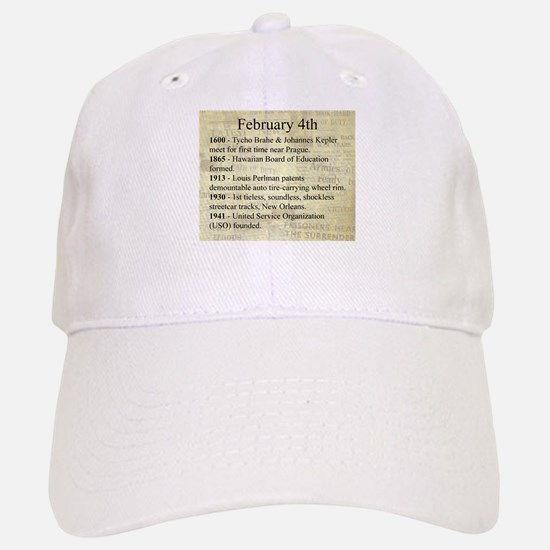 February 4th Baseball Baseball Baseball Cap