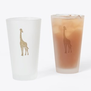 Giraffe Drinking Glass