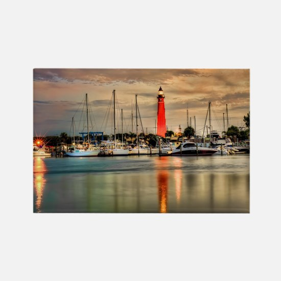 Ponce Inlet Lighthouse in FL Rectangle Magnet