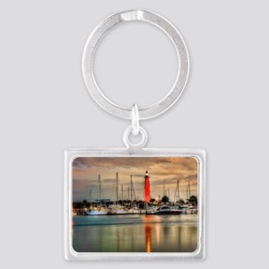 Ponce Inlet Lighthouse in FL Landscape Keychain