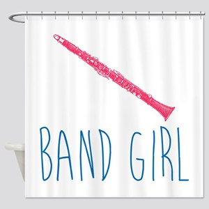 Band Girl Clarinet Shower Curtain