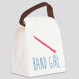 Band Girl Clarinet Canvas Lunch Bag