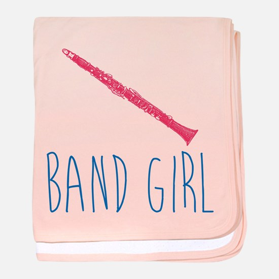 Band Girl Clarinet Baby Blanket