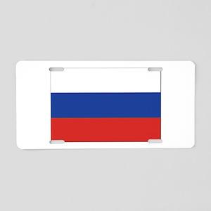 Flag of Russia Aluminum License Plate