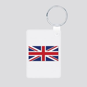 Flag of the United Kingdom Aluminum Photo Keychain