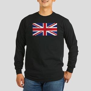 Flag of the United Kingdo Long Sleeve Dark T-Shirt