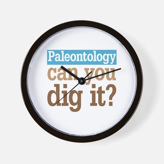Paleontology Dig It Wall Clock