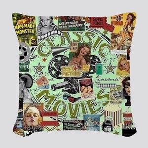 Movie Night Woven Throw Pillow
