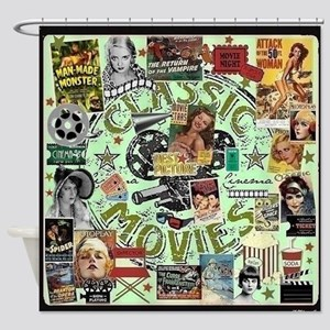 Movie Night Shower Curtain