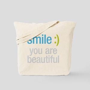 Smile Beautiful Tote Bag