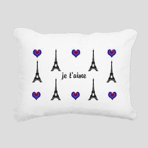 Stylish French I LOVE PARIS Rectangular Canvas Pil