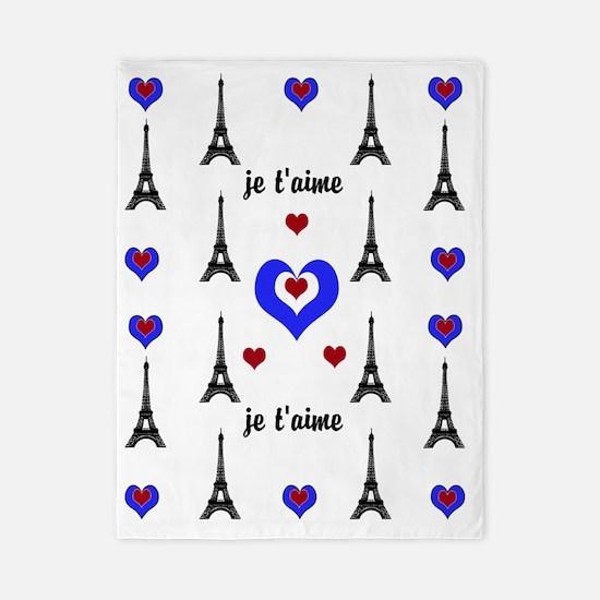 Stylish French I LOVE PARIS Twin Duvet