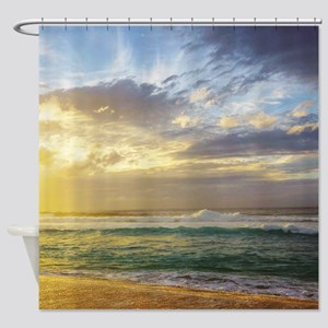 North Shore Hawaii Sunset Tropical Shower Curtain
