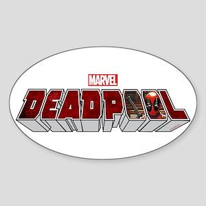 Deadpool Logo Sticker (Oval)