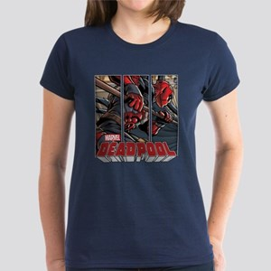 Deadpool Panels Women's Dark T-Shirt