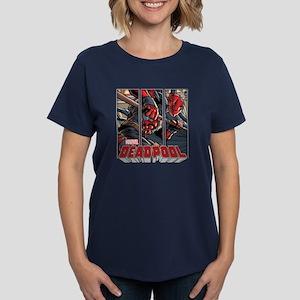 Deadpool Panels Women's Dark T-Shirt