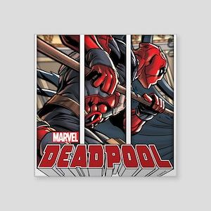 "Deadpool Panels Square Sticker 3"" x 3"""