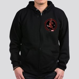 Deadpool Sketch Zip Hoodie (dark)