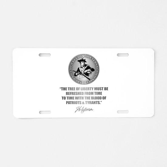 (Eternal Vigilance) Blood o Aluminum License Plate