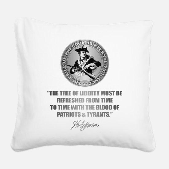 (Eternal Vigilance) Blood of Square Canvas Pillow