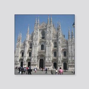"""The Milan Cathedral Square Sticker 3"""" x 3"""""""