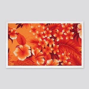 Orange Hibiscus 3'x5' Area Rug
