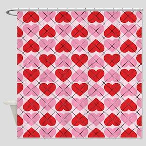 Sweetheart Argyle Shower Curtain