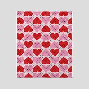 Sweetheart Argyle Throw Blanket
