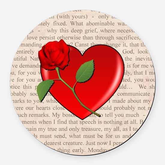ROSE FOR MY LOVER Round Car Magnet