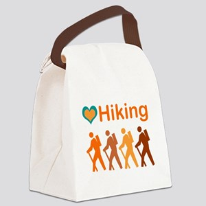 Love Hiking with Heart Canvas Lunch Bag